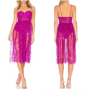 X by NBD Revolve Britney Lace Midi Dress